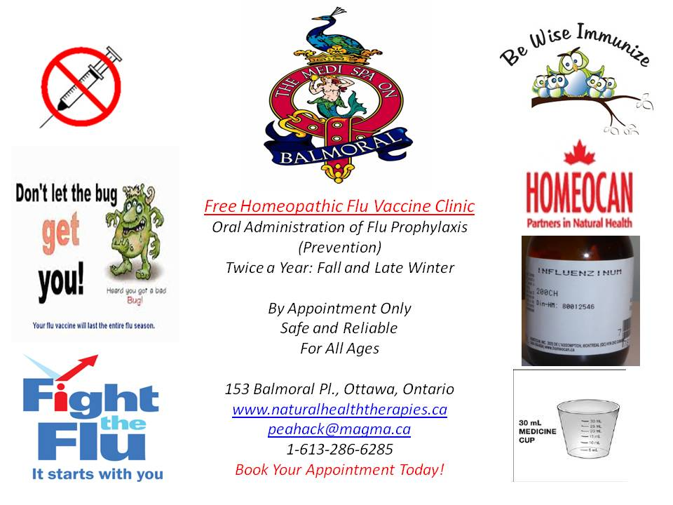 Free Homeoapthic Oral Vaccine Flu Clinic
